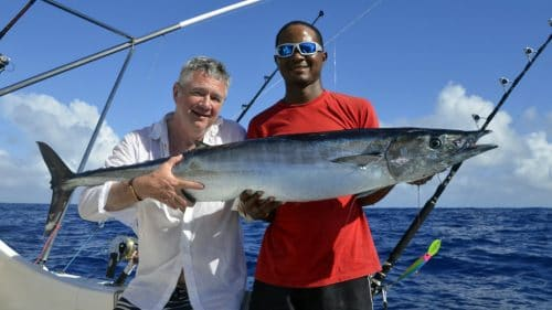 Wahoo on trolling by Patrice - www.rodfishingclub.com - Rodrigues - Mauritius - Indian Ocean