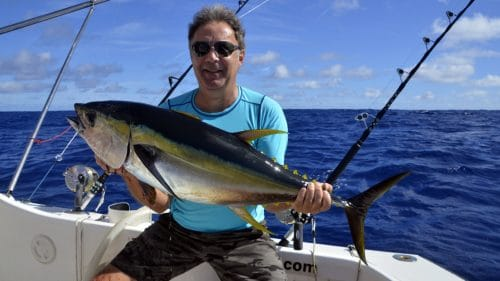 Yellowfin tuna on trolling by Patrice - www.rodfishingclub.com - Rodrigues - Mauritius - Indian Ocean