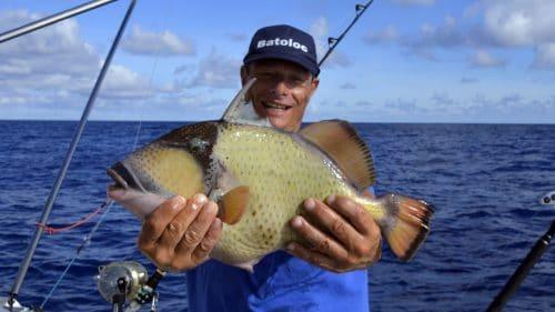 Trigger fish on baiting - www.rodfishingclub.com - Rodrigues - Mauritius - Indian Ocean