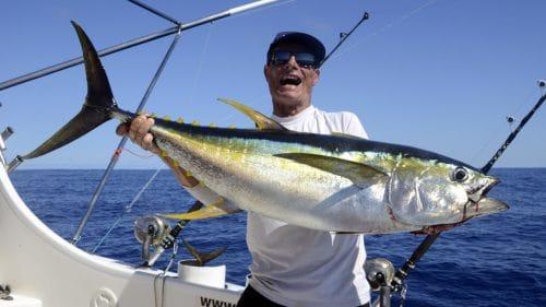 Yellowfin tuna on trolling by Chris - www.rodfishingclub.com - Rodrigues - Mauritius - Indian Ocean