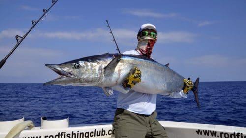 38kg wahoo on trolling - www.rodfishingclub.com - Rodrigues - Mauritius - Indian Ocean