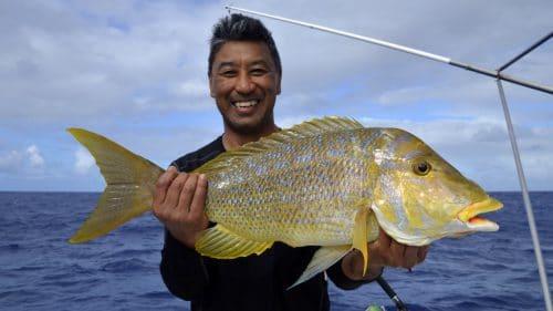 Capitaine en peche au jig par Gerard - www.rodfishingclub.com - Rodrigues - Maurice - Océan Indien