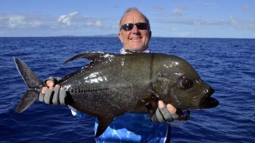 Carangue lugubris en peche au jig par Marc - www.rodfishingclub.com - Rodrigues - Maurice - Océan Indien