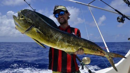 Dorade en peche a la traine par Jeremy - www.rodfishingclub.com - Rodrigues - Maurice - Ocean Indien