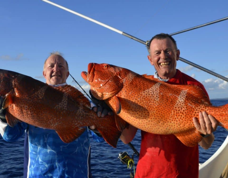 Doublé de babones en peche au jig - www.rodfishingclub.com - Rodrigues - Maurice - Océan Indien
