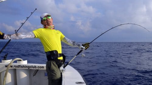 Good fight on slow jigging by Peter - www.rodfishingclub.com - Rodrigues - Mauritius - Indian Ocean