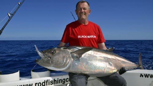 Thon dents de chien 36kg sur rapala X Rap 40 - www.rodfishingclub.com - Rodrigues - Maurice - Océan Indien