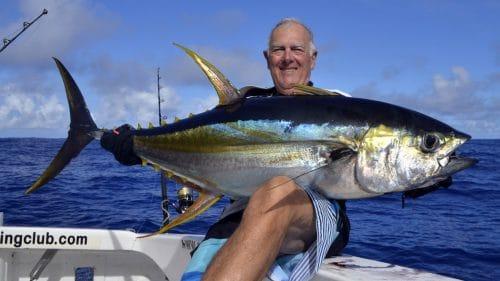 Thon jaune en heavy spinning par Alain - www.rodfishingclub.com - Rodrigues - Maurice - Océan Indien