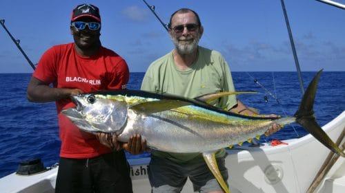 Thon jaune en peche a la traine par Pascal - www.rodfishingclub.com - Rodrigues - Maurice - Ocean Indien