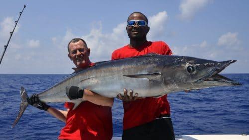 Wahoo 38kg en peche a la traine par Philippe - www.rodfishingclub.com - Rodrigues - Maurice - Océan Indien