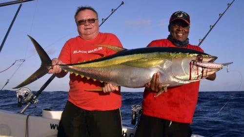 Yellowfin tuna of 35 kg on trolling on a rapala X Rap - www.rodfishingclub.com - Rodrigues - Mauritius - Indian Ocean