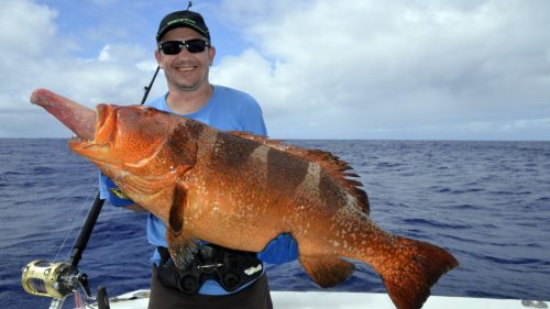 Big grouper on jigging - www.rodfishingclub.com - Rodrigues - Mauritius - Indian Ocean