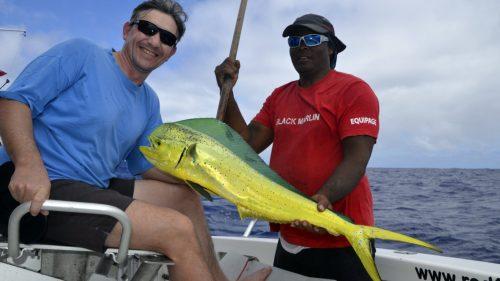 Dorade en peche a la traine par JP - www.rodfishingclub.com - Rodrigues - Maurice - Océan Indien