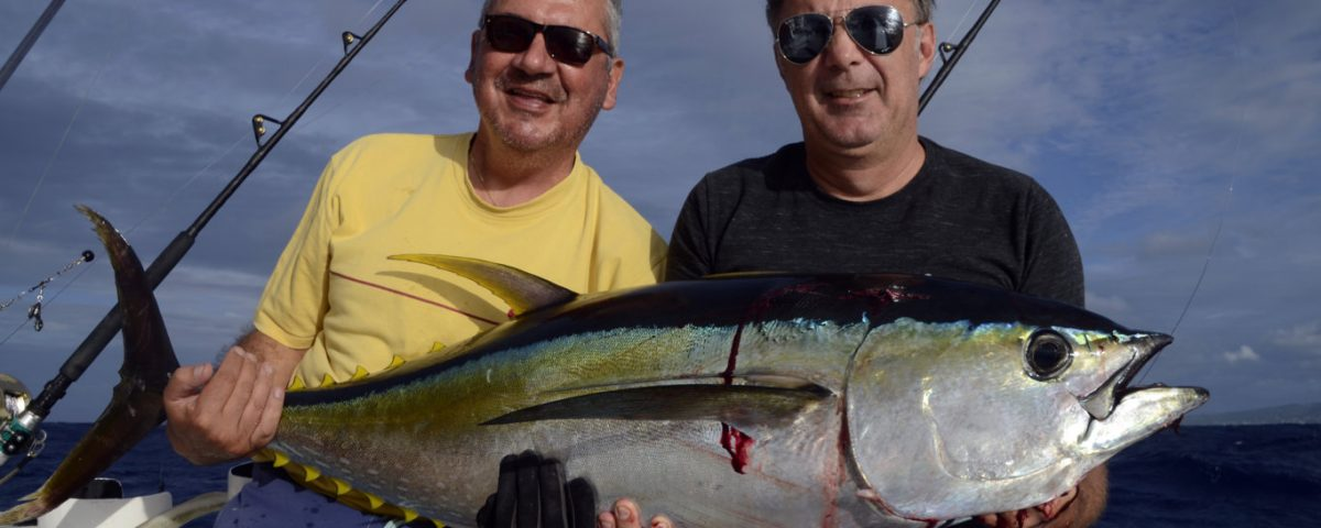 Good yellowfin tuna on trolling - www.rodfishingclub.com - Rodrigues - Mauritius - Indian Ocean