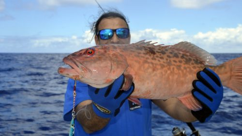 Merou babone en peche au jig par Mathieu - www.rodfishingclub.com - Rodrigues - Maurice - Océan Indien