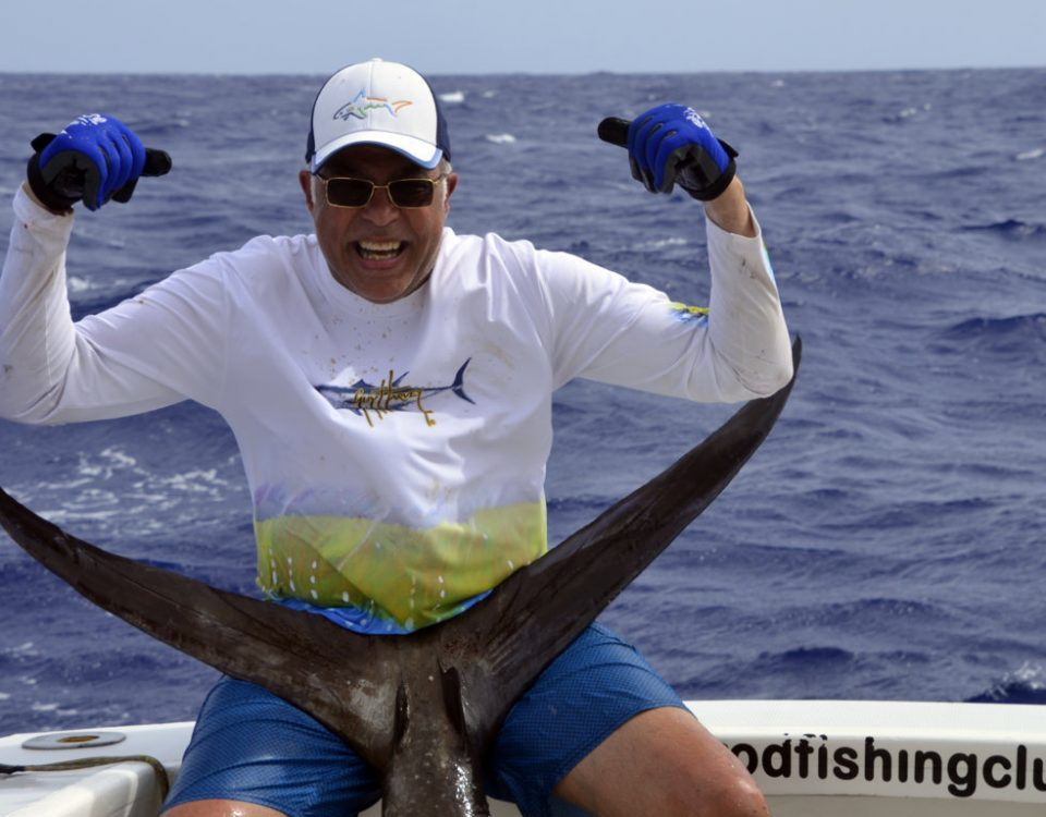 Pêcheur heureux - www.rodfishingclub.com - Rodrigues - Maurice - Océan Indien