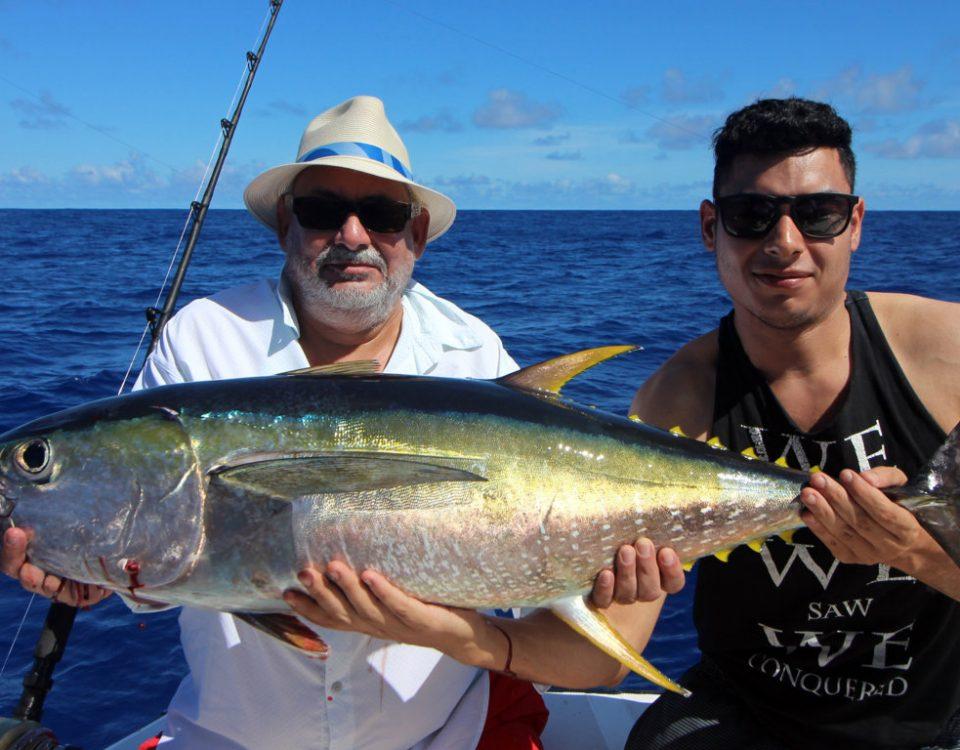 Thon jaune en peche a la traine par Raian - www.rodfishingclub.com - Rodrigues - Maurice - Océan Indien