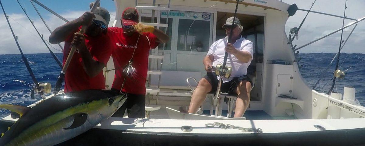 Thon jaune en peche a la traine - www.rodfishingclub.com - Rodrigues - Maurice -Ocean Indien