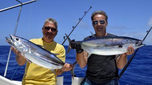 Thons skipjack ou listao en peche a la traine - www.rodfishingclub.com - Rodrigues - Maurice - Océan Indien