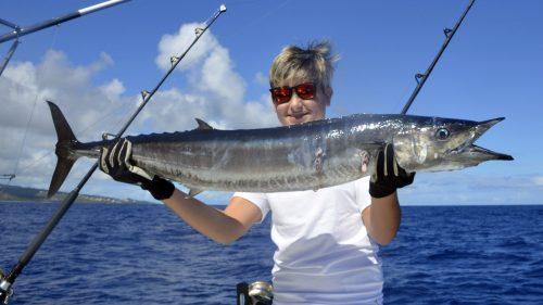 Wahoo en peche a la traine par Baptiste - www.rodfishingclub.com - Rodrigues - Maurice - Océan Indien