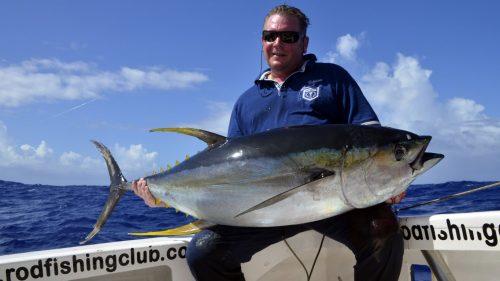 Yellowfin tuna caught on trolling by Bruno - www.rodfishingclub.com - Rodrigues - Mauritius - Indian Ocean