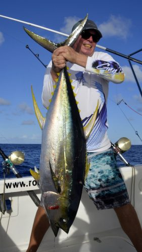 Yellowfin tuna on trolling by Jonas - www.rodfishingclub.com - Rodrigues - Mauritius - Indian Ocean