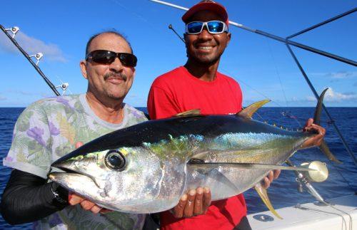 Yellowfin tuna on trolling by Sumanth - www.rodfishingclub.com - Rodrigues - Mauritius - Indian Ocean